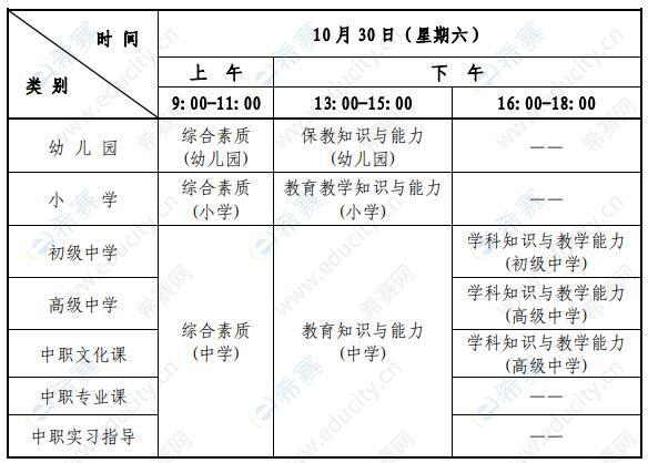 2021下半年教师资格证考试时间及科目.jpg