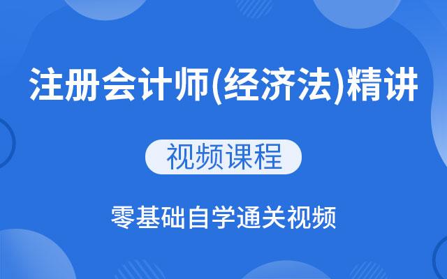 注册会计师(经济法)精讲班视频教程